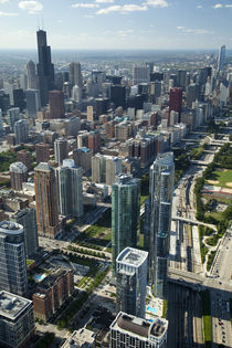 Aerial view of a city by Panoramic Images