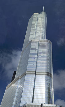 Low angle view of a skyscraper, Trump Tower, Chicago, Cook County, Illinois, USA von Panoramic Images