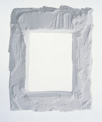 Plaster frame with white background by Panoramic Images