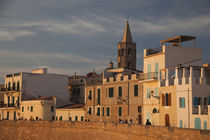 Buildings in a city, Bastioni San Marco, Alghero, Sassari, Sardinia, Italy by Panoramic Images