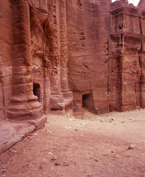 Ruins of a building, Petra, Jordan by Panoramic Images