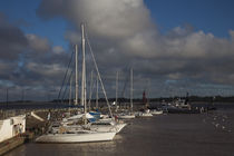 Sailboats at a harbor, Colonia Del Sacramento, Uruguay von Panoramic Images