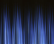 Vertically striated curtain in dark blues von Panoramic Images