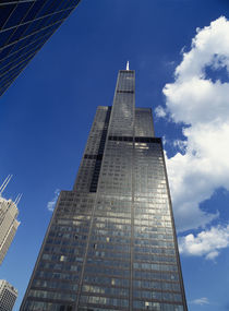 Low angle view of a tower, Sears Tower, Chicago, Illinois, USA by Panoramic Images