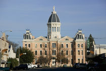 Facade of a courthouse, Presidio County Courthouse, Marfa, Texas, USA von Panoramic Images