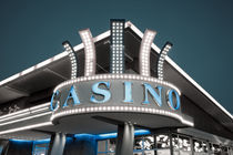 Low angle view of a casino by Panoramic Images