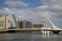The Samuel Beckett Bridge, Over The River Liffey, Dublin, Ireland by Panoramic Images