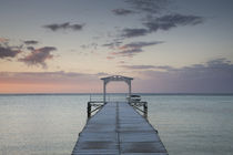 Pier at the coast, Dinarobin Hotel, Le Morne Brabant, Mauritius von Panoramic Images