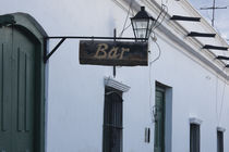 Low angle view of a Bar sign, Cachi, Salta Province, Argentina von Panoramic Images