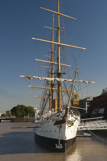 Training ship at a port by Panoramic Images