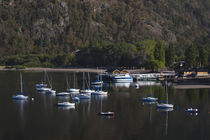Boats in a lake, Lacar Lake, San Martin De Los Andes, Lake District, Argentina by Panoramic Images