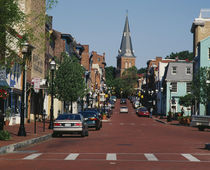 Buildings along a road, Annapolis, Maryland, USA by Panoramic Images