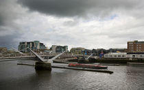 The Sean O'Casey Bridge, Over The River Liffey, Dublin, Ireland von Panoramic Images