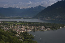 High angle view of a cityscape, Ascona, Lake Maggiore, Ticino, Switzerland von Panoramic Images