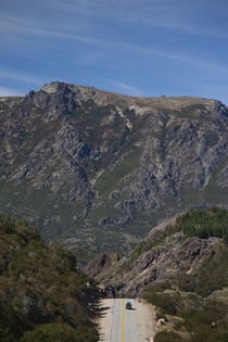 Road passing through mountains, RN 234, Lake District, Argentina von Panoramic Images