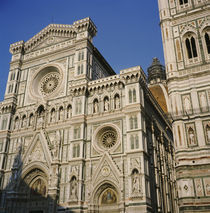Low angle view of a cathedral, Duomo Santa Maria Del Fiore, Florence, Italy by Panoramic Images