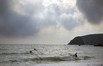 Kayaking at Kilfarassy Cove, Copper Coast, County Waterford, Ireland von Panoramic Images