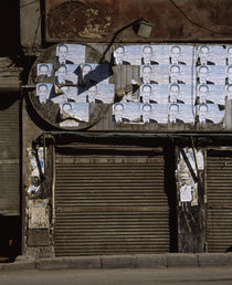 Posters on a store wall, Egypt by Panoramic Images