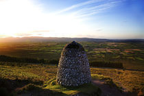 Cairn marking the upright burial place of Samuel Grubb (eccentric Quaker) by Panoramic Images