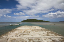 Boats on the beach, Le Morne Brabant, Mauritius von Panoramic Images