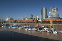 Warehouses at the port, Puerto Madero, Buenos Aires, Argentina von Panoramic Images