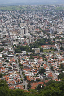 Aerial view of a city, Cerro San Bernardo, Salta, Argentina by Panoramic Images