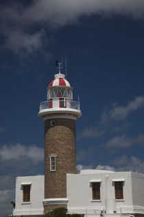 Low angle view of a lighthouse, Punta Brava Lighthouse, Montevideo, Uruguay by Panoramic Images