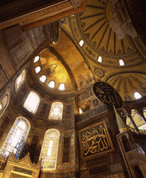 Architectural details of a museum, Aya Sofya, Istanbul, Turkey by Panoramic Images