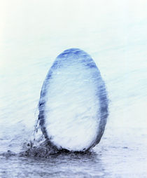 Crystal egg under water by Panoramic Images