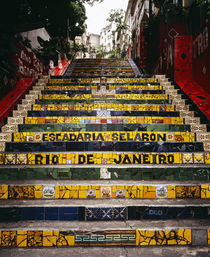 Low angle view of a staircase, Lapa Steps, Rio De Janeiro, Brazil von Panoramic Images