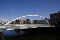 The James Joyce Bridge, Over The River Liffey, Dublin, Ireland von Panoramic Images
