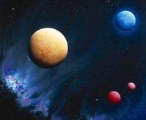 Conceptualized universe with planets by Panoramic Images