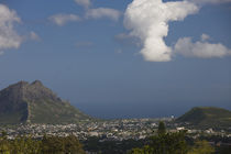 High angle view of a town, Coastal Mountains, Curepipe, Mauritius von Panoramic Images
