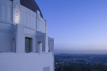 Observatory with downtown at dusk by Panoramic Images