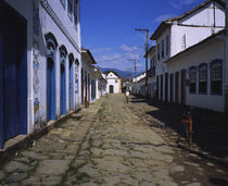 Buildings along a cobblestone street, Parati, Rio De Janeiro, Brazil by Panoramic Images