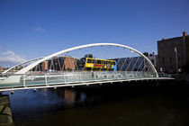 The James Joyce Bridge, Over The River Liffey, Dublin, Ireland by Panoramic Images