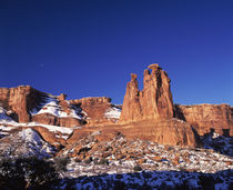 Rock formations on a landscape, Arches National Park, Utah, USA by Panoramic Images