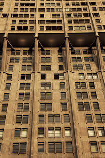 Low angle view of a tower, Torre Velasca, Milan, Lombardy, Italy von Panoramic Images