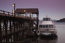 Ferry near a pier in the lake by Panoramic Images