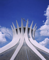 High section view of a cathedral, Cathedral of Brasilia, Brasilia, Brazil von Panoramic Images