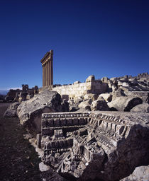 Ruins of a temple, Temple of Bacchus, Baalbek, Lebanon by Panoramic Images