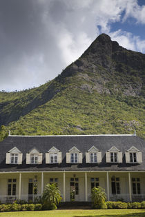 Facade of a mansion at mountainside, Eureka Mansion, Moka, Mauritius by Panoramic Images