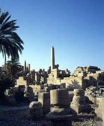 Ruins of a building, Valley Of The Kings, Luxor, Egypt by Panoramic Images