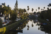 Homes along a canal, Venice, Los Angeles, California, USA by Panoramic Images