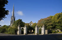 Entrance gates to St Carthagh's Cathdral, Lismore, County Waterford, Ireland von Panoramic Images