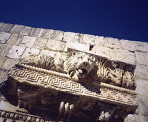 Details of a frieze on a wall of a temple, Temple of Bacchus, Baalbek, Lebanon by Panoramic Images