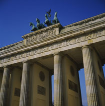 Low angle view of a memorial gate, Brandenburg Gate, Berlin, Germany by Panoramic Images