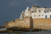 Ramparts of the ancient Skala du Port in the coastal city of Essaouira, Morocco by Panoramic Images