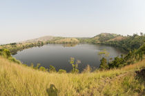 Lake in a forest, Queen Elizabeth National Park, Uganda by Panoramic Images