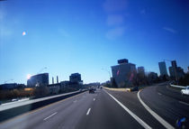 Buildings along a highway, Louisville, Kentucky, USA by Panoramic Images